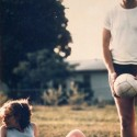 Bill and Hillary Rodem Clinton playing volleyball in 1975.