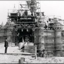 The construction of Disneyland .